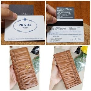 Bags - Authentic prada bifold long wallet